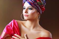 Woman in turban Stock Image
