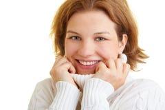 Woman with turtleneck Stock Photo