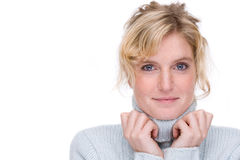 Woman in a turtleneck Stock Photo