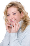 Woman in a turtleneck Royalty Free Stock Image