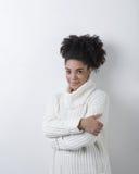 Woman in turtleneck. Studio portrait Royalty Free Stock Photo