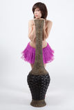 Woman in Tutu With Vase Royalty Free Stock Photos