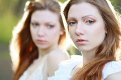 Woman twins Royalty Free Stock Photo