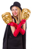 Woman with two masks Stock Image