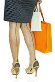 Woman with two shopping bags Royalty Free Stock Photography