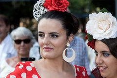 Woman with typical costumes of Andalucia in Spain Fuengirola Fai Stock Photography
