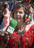 Woman with typical costumes of Andalucia in Spain Fuengirola Fai Royalty Free Stock Images