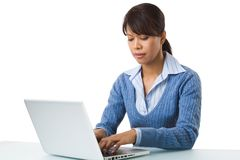 Woman typing Stock Photos