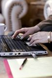 Woman Typing Laptop Close-up Royalty Free Stock Photo