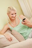 Woman typing sms Royalty Free Stock Photo