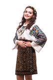 Woman in ukraine national dress royalty free stock image