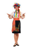Woman in the Ukrainian national clothes Royalty Free Stock Photography