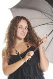 Woman with umbrella Stock Photography