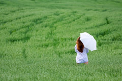 Woman with umbrella. Royalty Free Stock Image