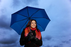 The woman with a umbrella Royalty Free Stock Photos