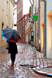 Woman with umbrella Stock Photo