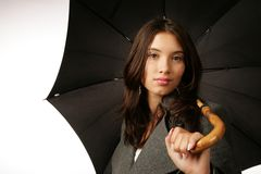 Woman umbrella Royalty Free Stock Photos