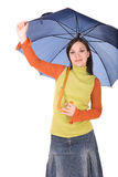 Woman with umbrella Royalty Free Stock Image