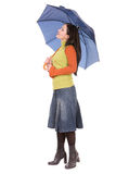 Woman with umbrella Stock Photos