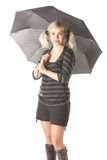 Woman with umbrella Royalty Free Stock Photo