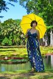 Woman with umbrella Stock Image