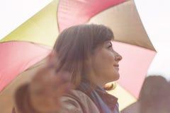 Woman with umbrella Royalty Free Stock Photo