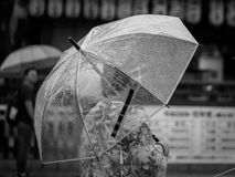 Woman with umbrella in Kyoto royalty free stock photo