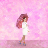Woman with an umbrella Stock Photography