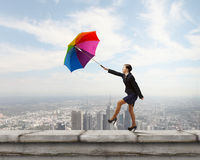 Woman with umbrella Royalty Free Stock Photos