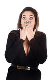 Woman unbelievable faces Royalty Free Stock Image