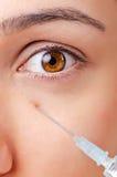 Woman under  plastic surgery Stock Image