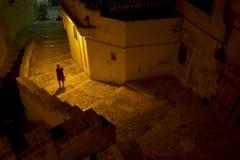 Woman under street light Stock Photography