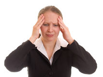 A woman under stress. Stock Photo