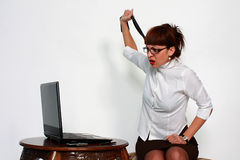 Woman under stress Royalty Free Stock Photos
