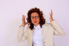 Woman under stress Royalty Free Stock Photo