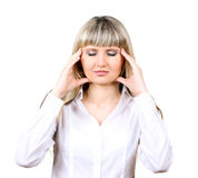 Woman under stress Royalty Free Stock Photo