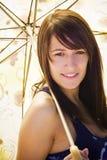 Woman under umbrella Royalty Free Stock Image