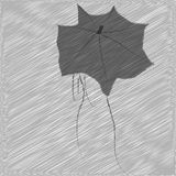 Woman under an umbrella. The girl is under the umbrella of an autumn evening, after attending a concert or TeArt favorite band. There is a fine autumn rain Stock Photos