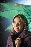 Woman under an umbrella Royalty Free Stock Image