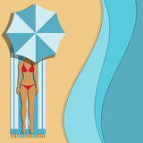 Woman under an umbrella Royalty Free Stock Image
