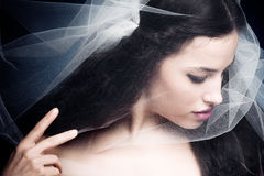 Woman under veil Stock Image
