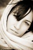Woman under veil Royalty Free Stock Photos