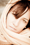 Woman under veil Royalty Free Stock Photography