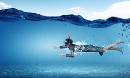 Woman under water Royalty Free Stock Photos