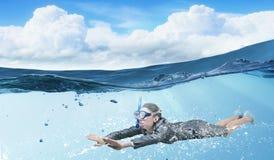 Woman under water Stock Photos