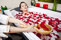A woman undergoing spa Royalty Free Stock Image