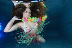 Woman underwater Stock Photography