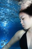 Woman underwater Royalty Free Stock Photos