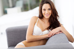 Woman in underwear Stock Photo
