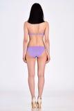 Woman in underwear full lengh back side Royalty Free Stock Photos